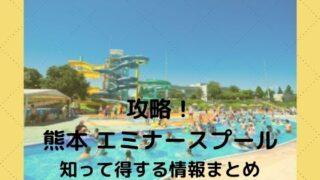 【熊本 エミナースプール】で暑い夏を攻略!知って得する情報まとめ
